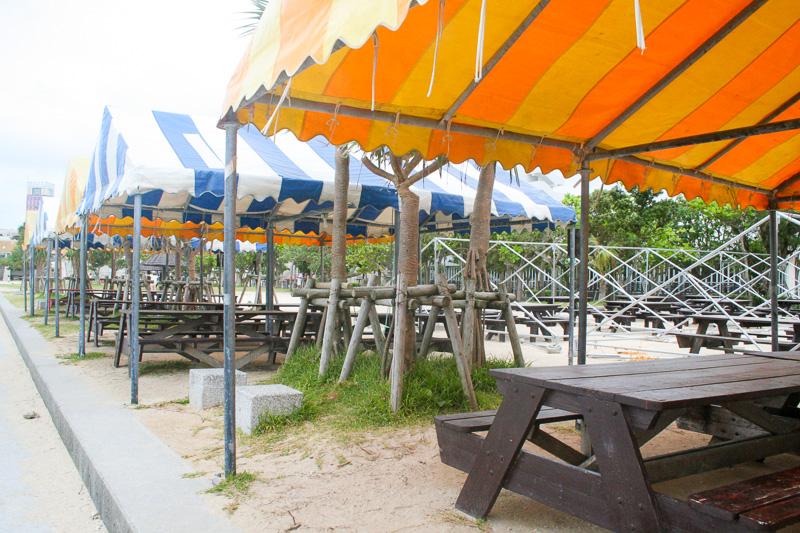 バーベキュー用のテントの数も充実