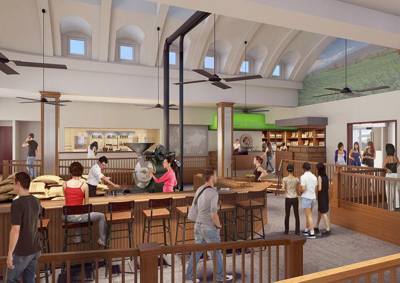 ホノルルコーヒー・エクスペリエンスセンターの店内イメージ