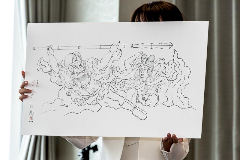 「JAPAN NIGHT 2015」で運行を予定されている千葉作龍氏作「古事記 日本創世」の下絵