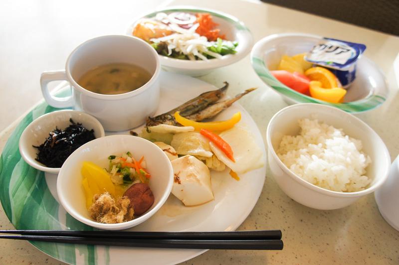 ビュッフェであっさりした和食朝ごはんにすることも可能