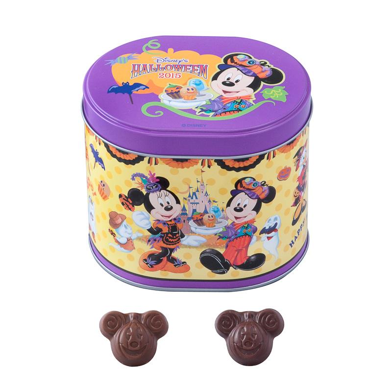 ミッキーマウスがモチーフのかぼちゃ形の「パフチョコレート」(750円)