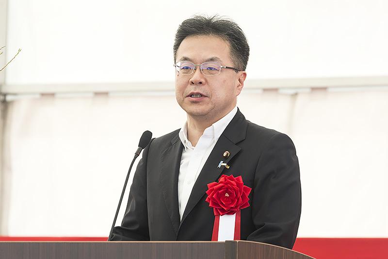 参議院議員 世耕弘成氏「根来寺が観光の出発点となって高野山まで繋がっていく観光周遊ルートが完成した」