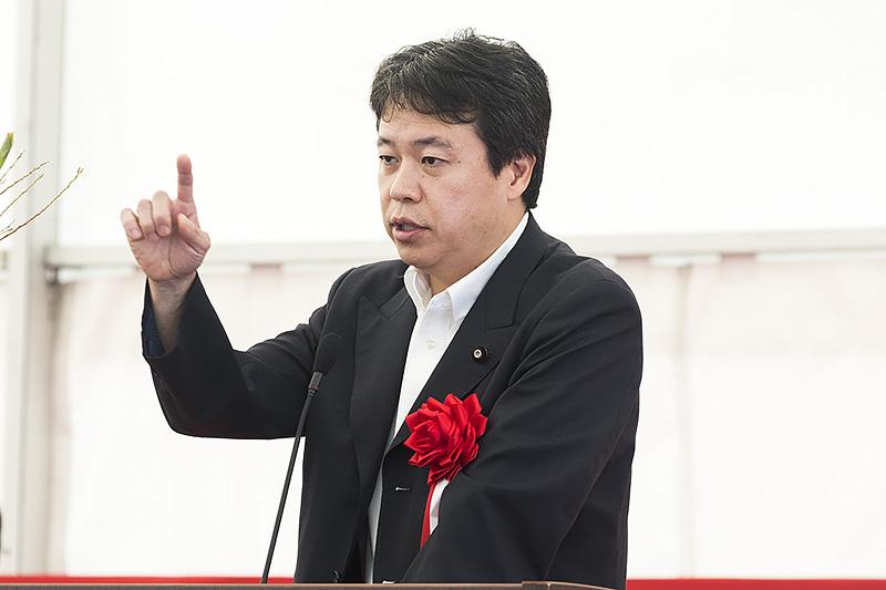 参議院議員 鶴保庸介氏「一刻も早く和歌山県一周道路の残り区間を」
