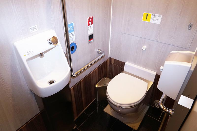 トイレは洋式で広めのスペースを確保