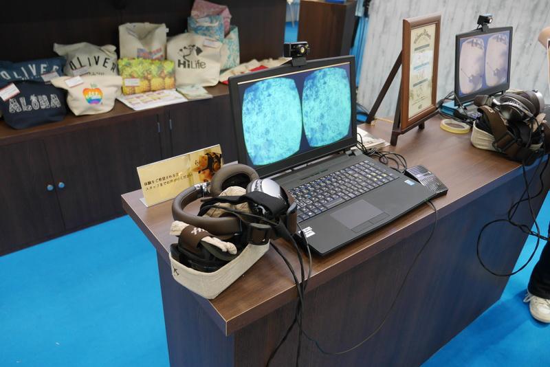 来場者はHMDとヘッドフォンを装着し、映像に没頭できる