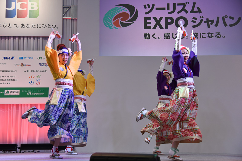 Japanステージでは高知のよさこいなど地域色豊かな演舞などを披露
