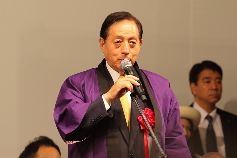 来賓挨拶を行なう国土交通大臣 太田昭宏氏
