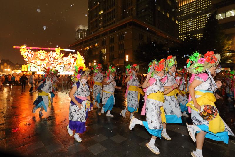 ハネトと呼ばれる踊り子たちは今回のイベントのために青森観光コンベンション協会と青森県が集った首都圏の参加者だ