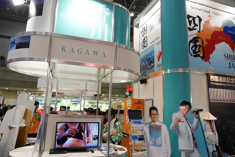 香川コーナーは、モニターによる観光地紹介が中心