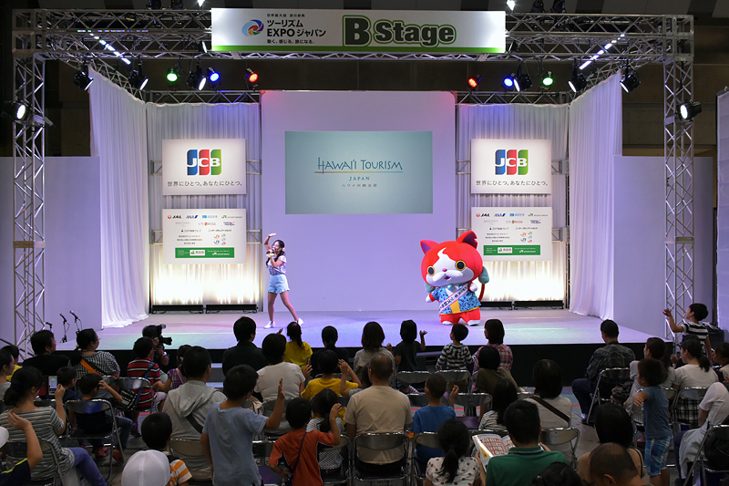 ゲームやクイズなど、観客席の子供も楽しめるステージで大いに盛り上がった