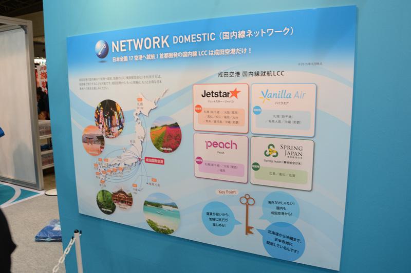 LCCを中心に国内17空港を結ぶ国内線ネットワーク