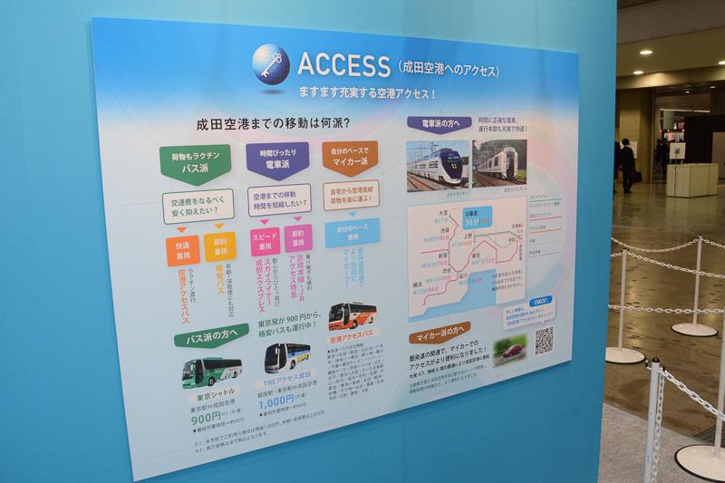 バス、鉄道、クルマに分けて成田空港へのアクセスを紹介