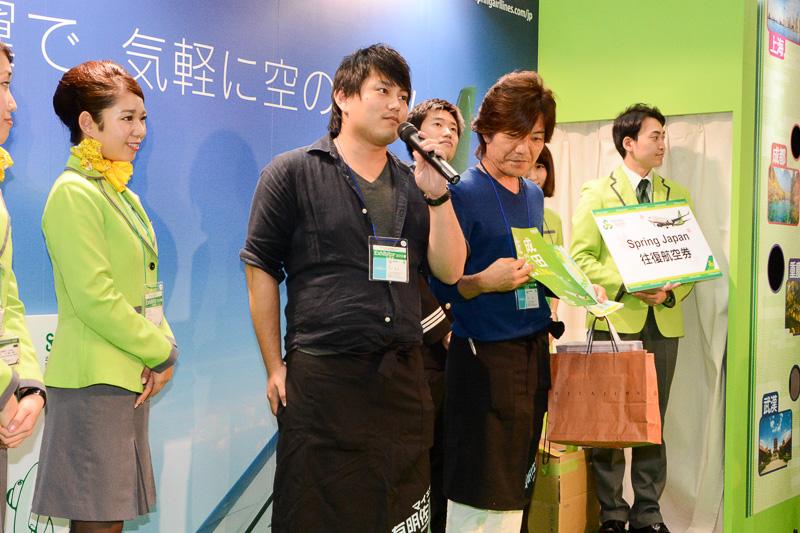 佐賀空港は地元の透明なイカをお勧めしたほか、羽田便/成田便の到着客を対象に実施している48時間1000円のレンタカーキャンペーンを紹介