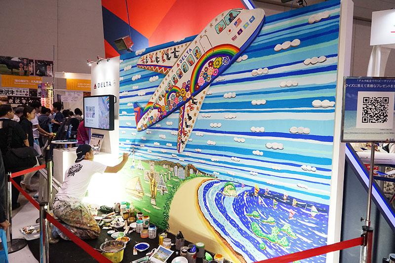 ミヤザキケンスケ氏による壁画のライブペイント