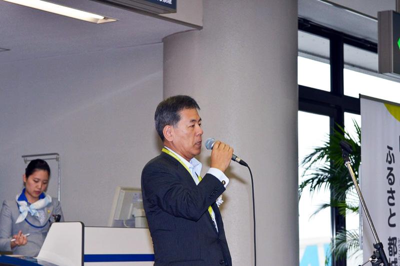 代表取締役社長の高橋洋氏が「満を持しての都城市さんとのコラボができてうれしい」と挨拶