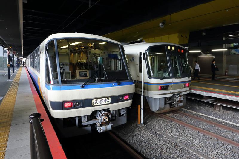 京都駅に停車中のU@tech
