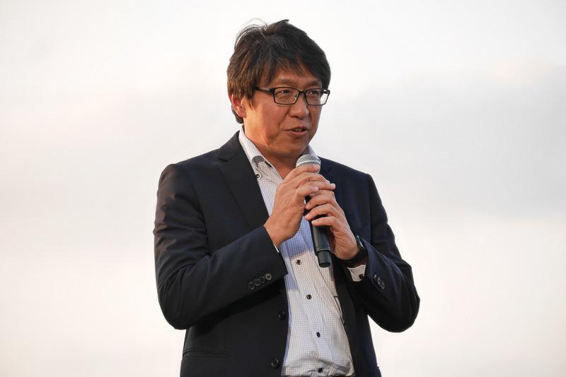 日本環境設計の代表取締役社長、岩元美智彦氏。1985年にBTTFを見て感銘を受け、夢だったバイオエタノール作成会社を設立したという