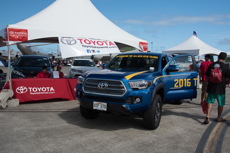 多くの人がショーに訪れることから地元ディーラーも車両展示を実施。2016年型のトヨタ自動車「タコマ」