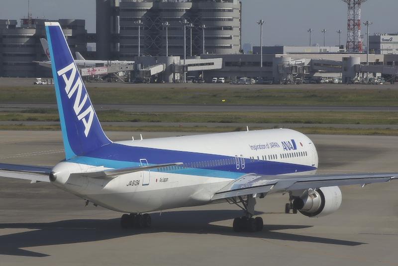 羽田~広州線に使用されるボーイング767-300ER型機。就航初便はJA613A号機が使用された