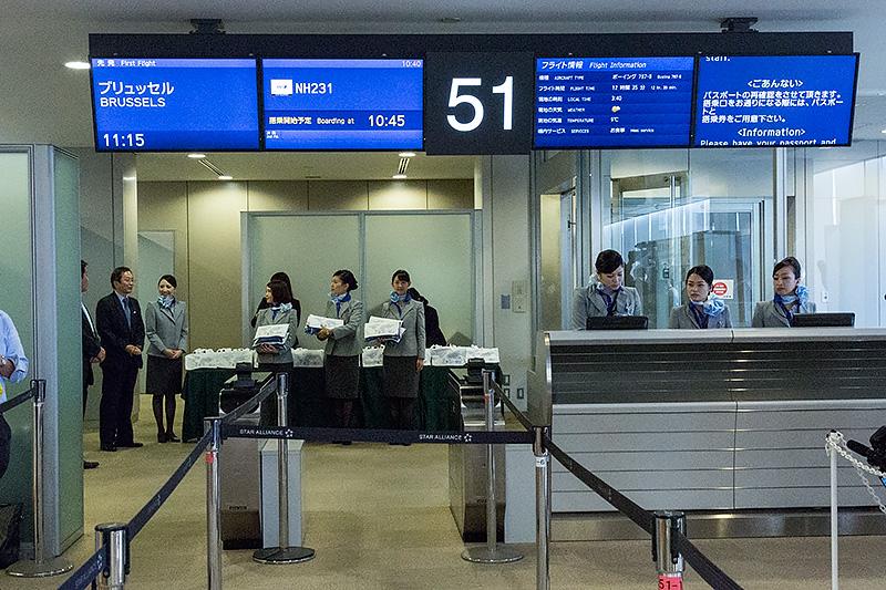 搭乗ゲートとなった成田空港 第1ターミナル 51番搭乗口