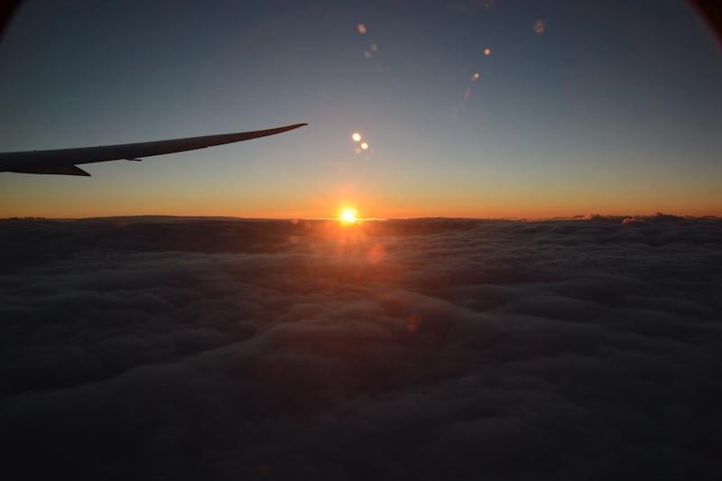 初日の出フライト(写真は2015年1月1日の初日の出フライトより)