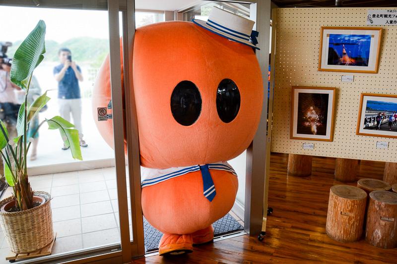 道の駅「北浦街道ほうほく」のマスコットキャラクター「ほっくん」。インパクトに残ったキャラだったので表紙を飾ってもらったが、彼の話題は次回以降で