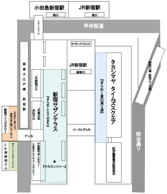 「新宿ミナミルミ」実施場所