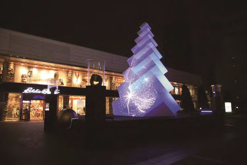 新宿サザンテラス「きらめくヒカリのまち」で設置する「マカロンツリー」(イメージ)
