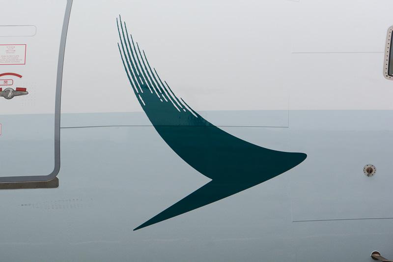 ノーズから胴体にかけてのBrushwingとロゴ。Brushwingは青みのあるグレーのラインに一部が乗っているがコントラストが高いので明瞭