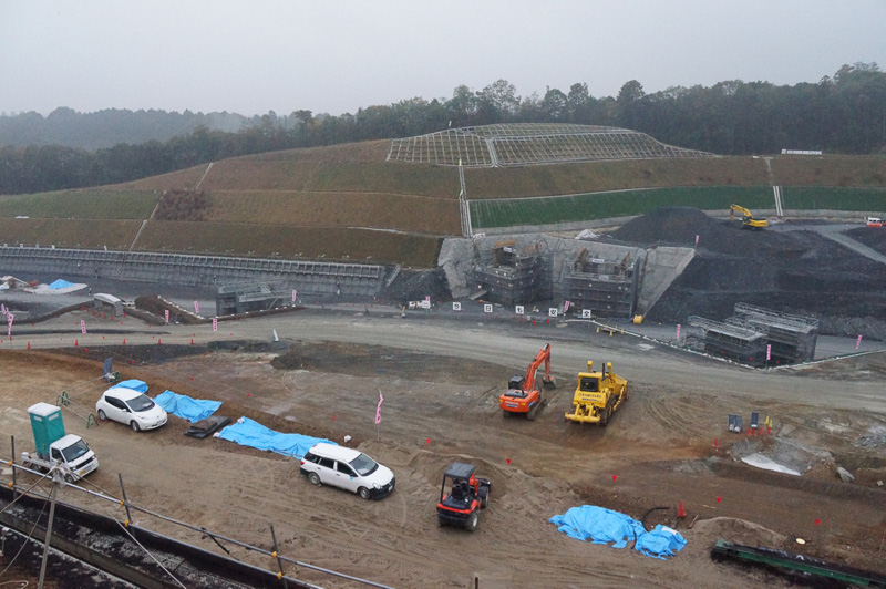 川西IC(仮称)の建設現場