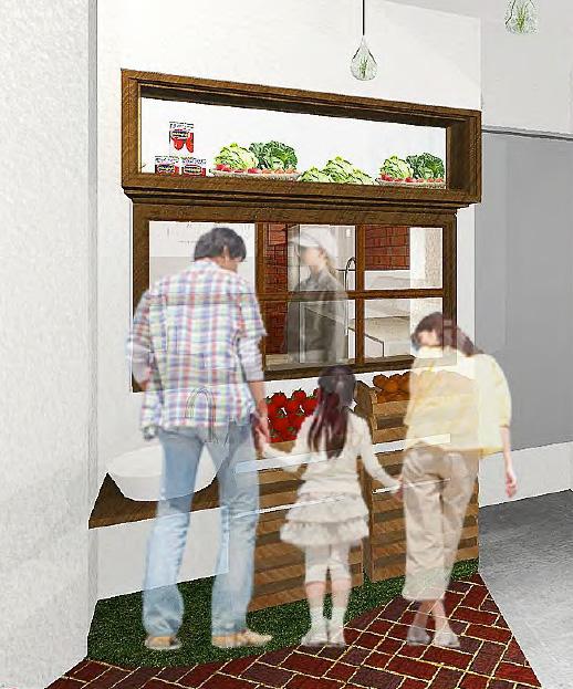 ハンバーガーを作る工程を見られるキッチン