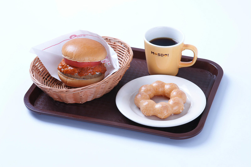 MOSDO店舗限定メニューの「ドーナツセット」