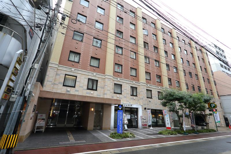 今回宿泊した「ホテルマイステイズ福岡天神」。福岡市天神に位置しており、ビジネスにも観光にも使いやすいホテルだ