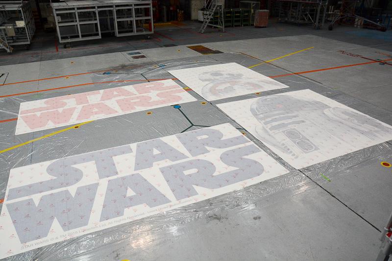 STAR WARS ANA JET 2号機に貼られるデカール