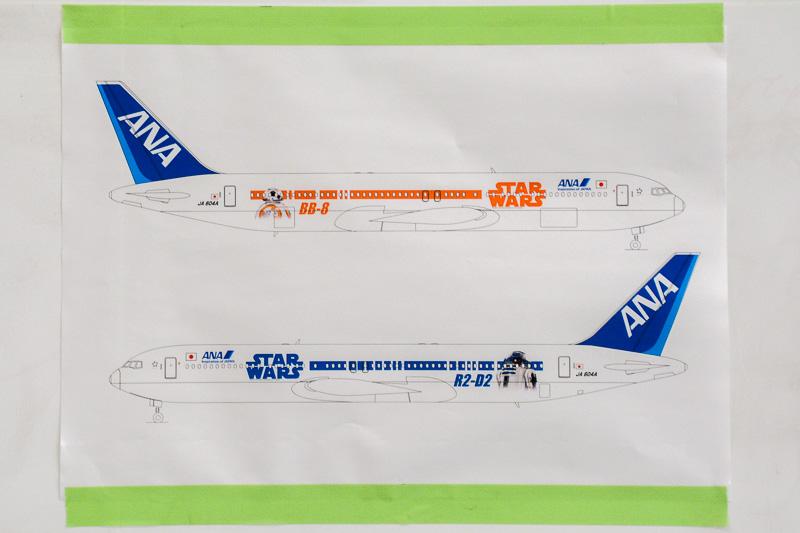 STAR WARS ANA JET 2号機のデザイン