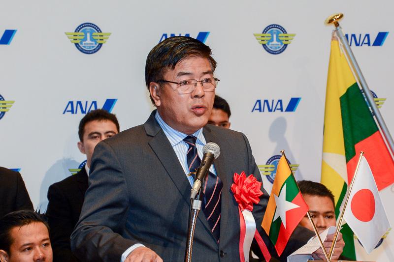 ミャンマー運輸省航空局長 Min Lwin(ミン・ルイン)氏