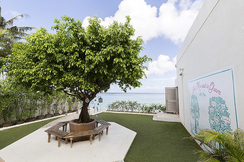 Family Tree Garden。タモン湾のビーチへのアクセスも用意されている