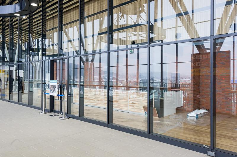 2階には北斗市の観光案内所を開設