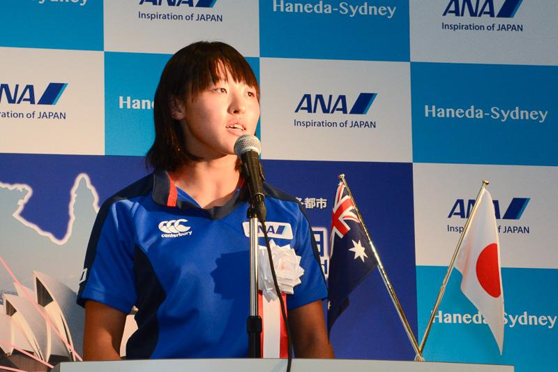 全日本空輸株式会社 女子7人制ラグビー日本代表 横尾千里選手