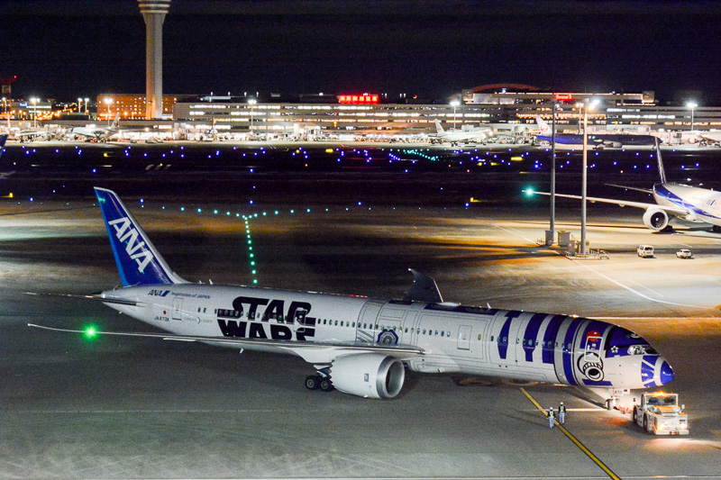 22時10分にプッシュバックを開始し、R2-D2 ANA JETがシドニーへ出発した