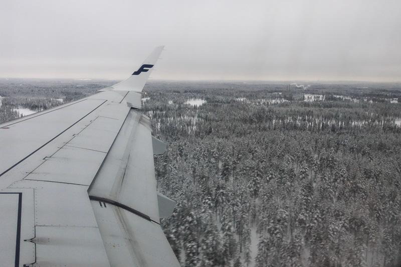ヘルシンキから1時間15分ほどで、もうそこは雪のラップランド