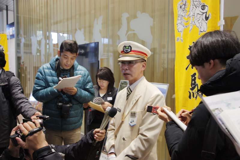 奥津軽いまべつ開業準備駅長 石沢透氏