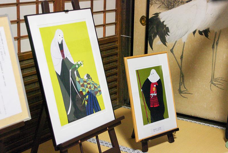 直虎の絵や、直虎の時代の家系が展示されている