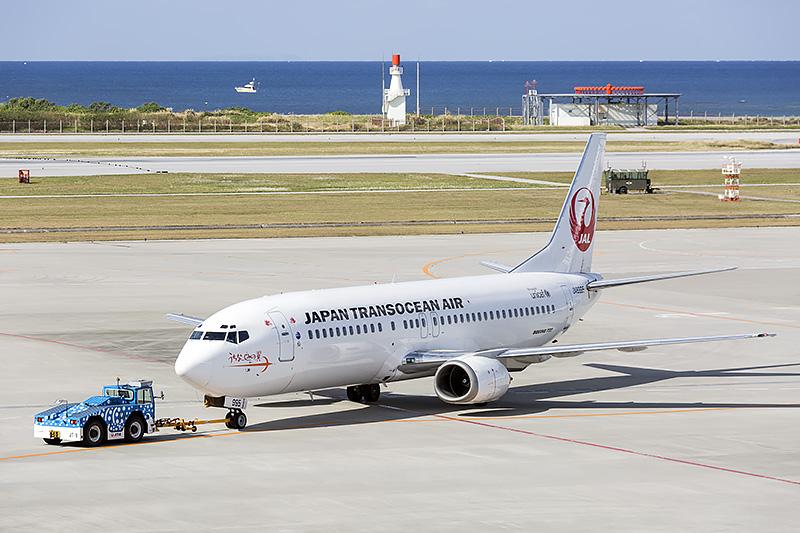 イリオモテヤマネコ発見50年をモチーフとしたデカールが貼られたJTAのボーイング 787-400型機(登録記号:JA8995)