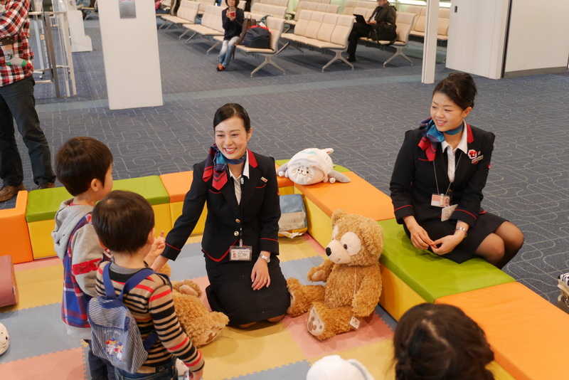 JALのCAが常駐するので、安心して子供を遊ばせられる