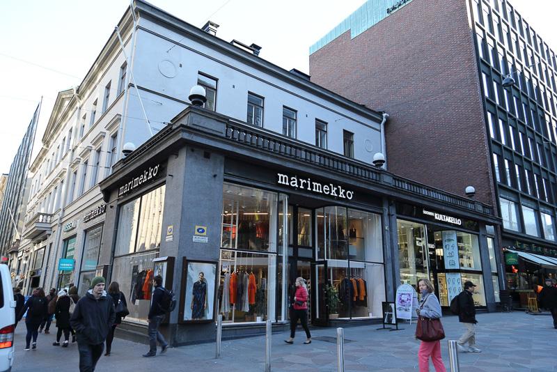 ファッションやインテリア、生活雑貨を手がけるテキスタイルブランド「マリメッコ(marimekko)」のショップ