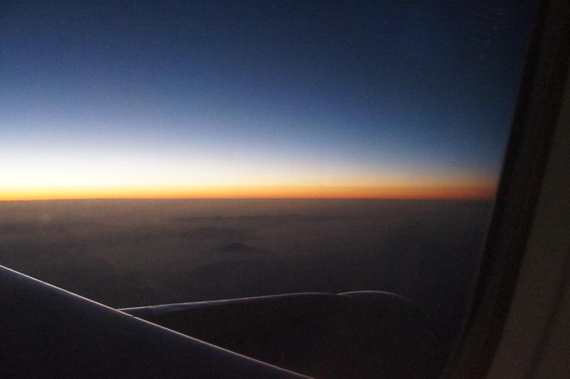 初日の出前後の空の様子