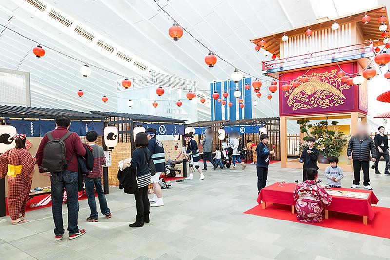 5階のお祭り広場周辺では江戸縁日を開催