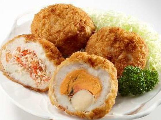 「太田かまぼこ」たらば贅沢メンチ、ホタテまるごとメンチ 限定30食