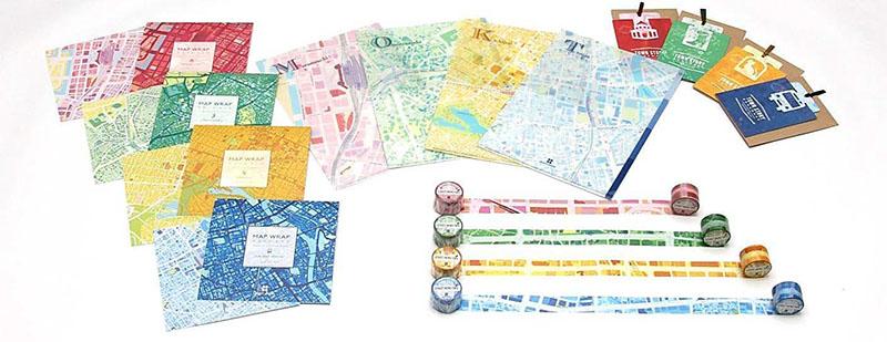 地図データをデザインとして活用したステーショナリー「mati mati(マチマチ)」シリーズ